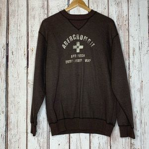 Brown abercrombie and fitch crewneck sweatshirt